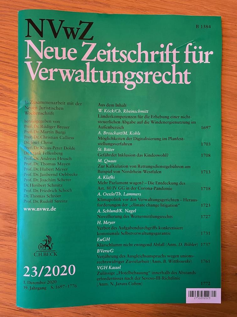 NVwZ 2020, 1737